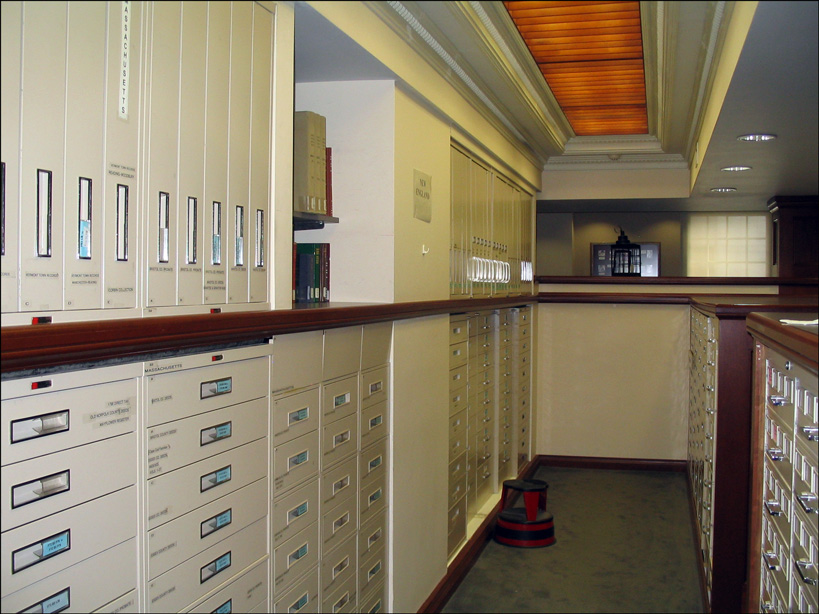 Microfilm Cabinets, New England Historic Genealogical Society