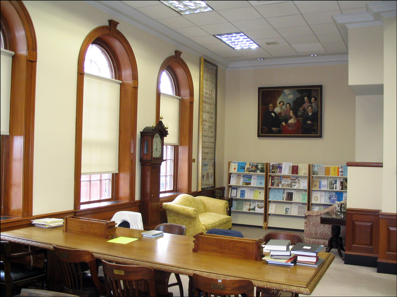Ruth C Bishop Reading Room, Front, New England Historic Genealogical Society