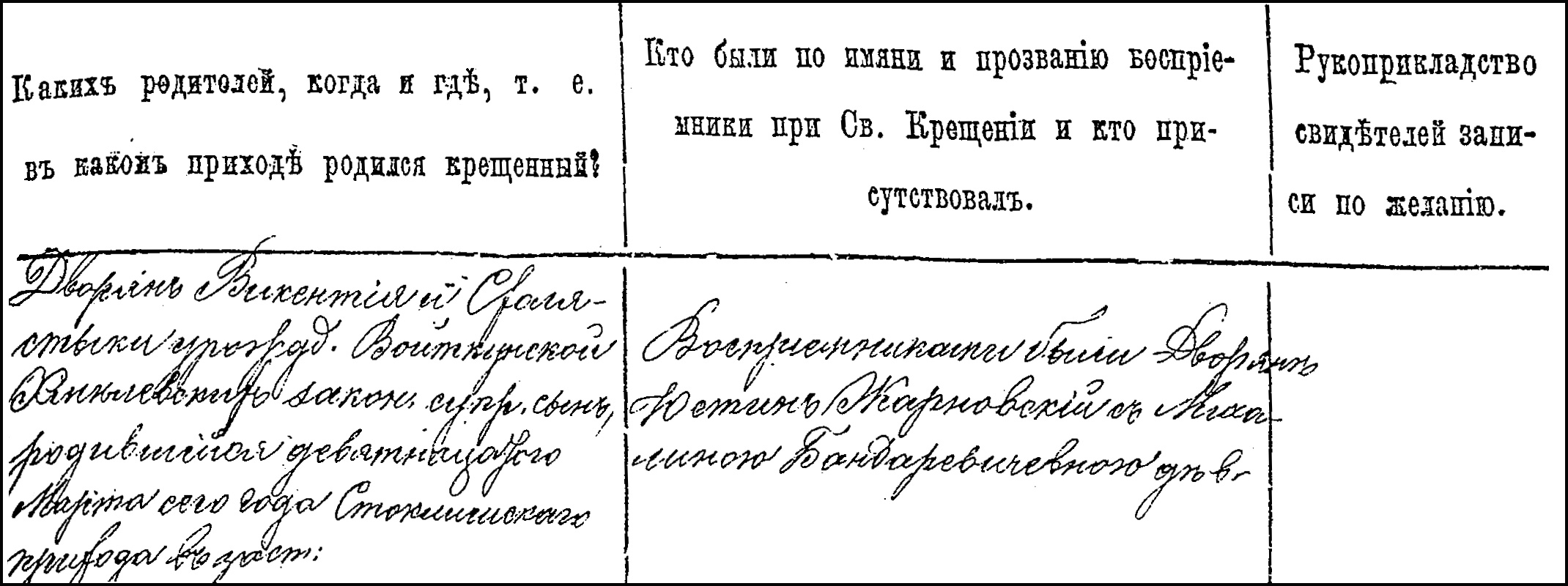 The Birth and Baptismal Record of Jozef Chmielewski - 1874 Right