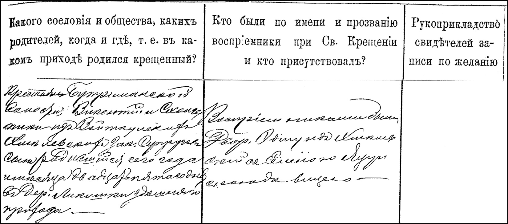The Birth and Baptismal Record of Wladyslaw Chmielewski - 1883 - Right