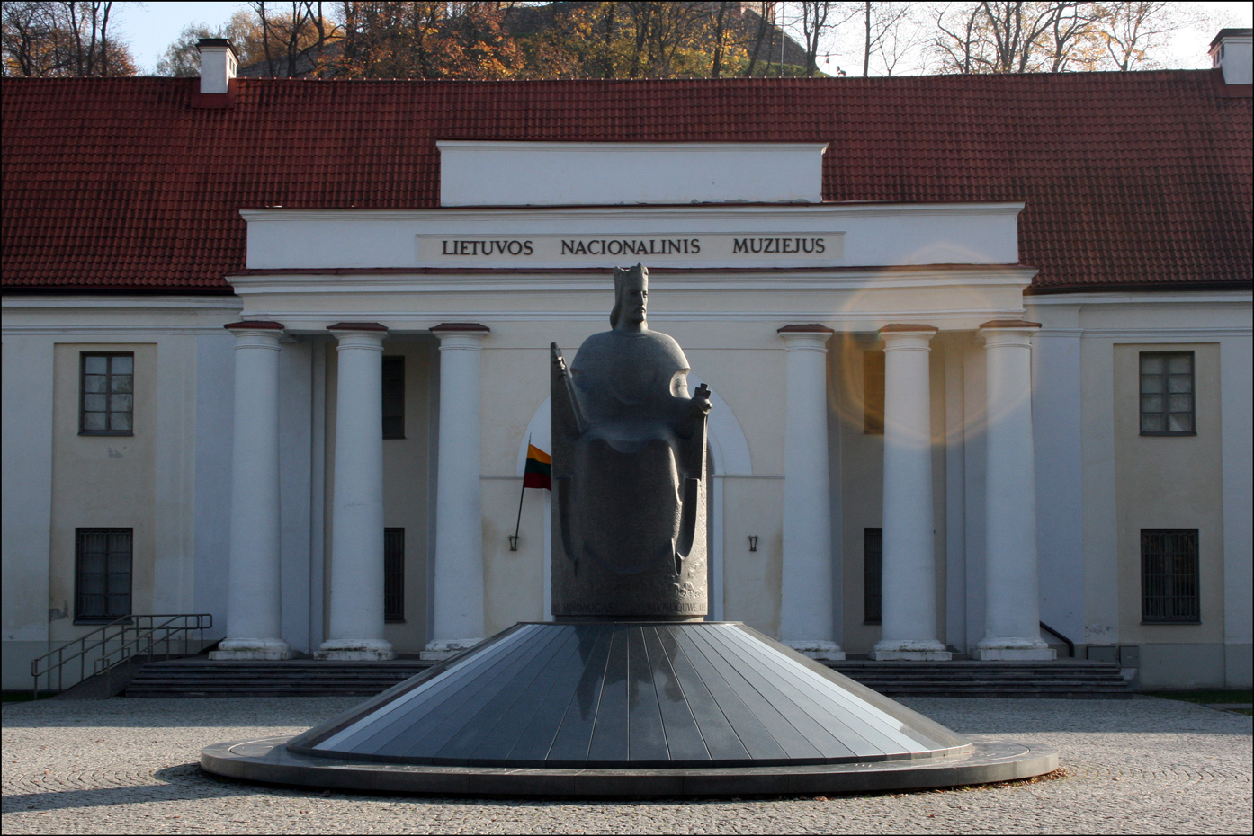 Statue of King Mindaugas at the Lithuanian National Museum