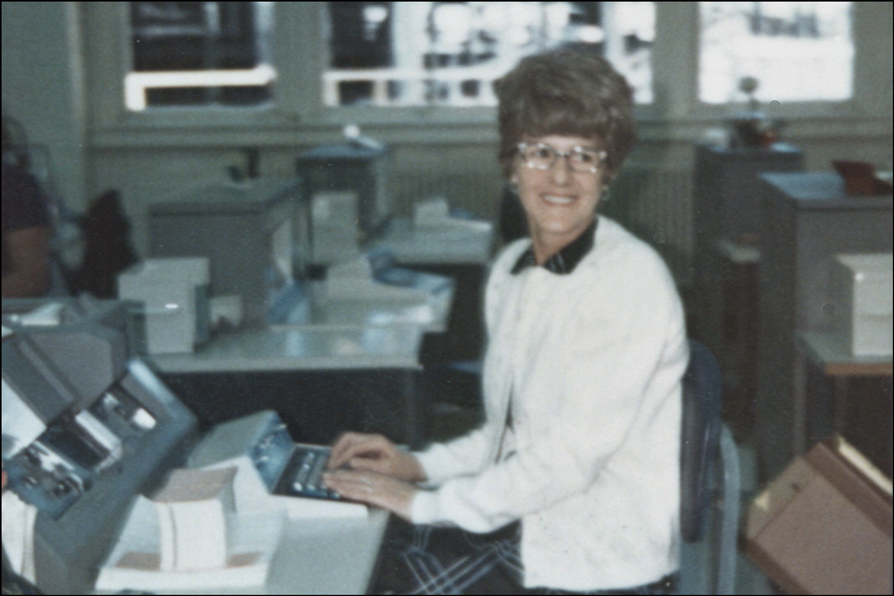 Jane Niedzialkowski Danko at Work - 1972