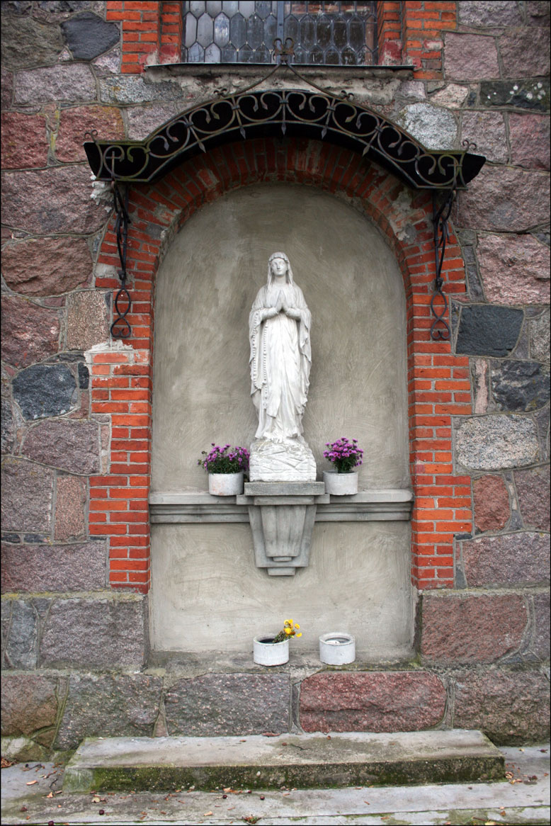 Shrine at the Church in Butrimonys Lithuania