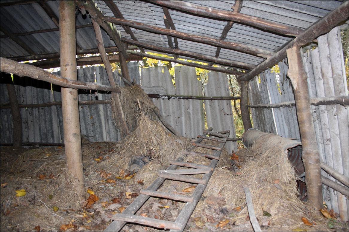 Interior of Chmielewski Barn