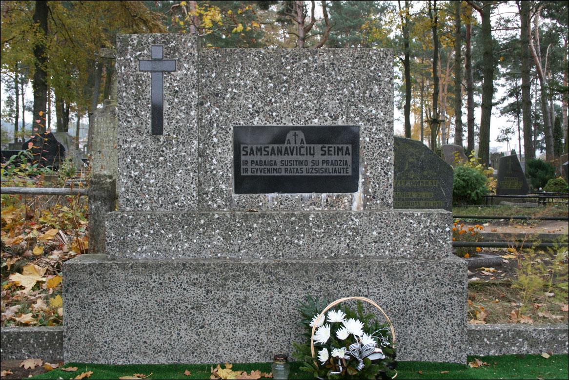 Samsanavicius Grave in Alytaus Lithuania