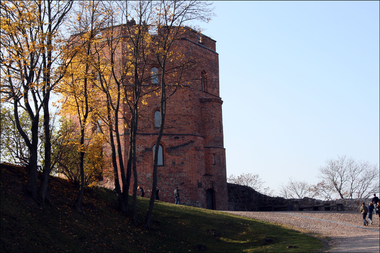 Western Tower of the Higher Castle in Vilnius Lithuania
