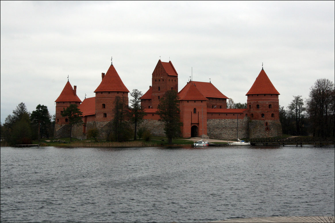 Island Castle Across the Water - Trakai Lithuania