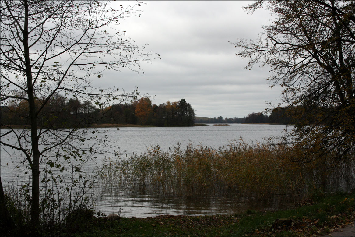 View over Lake Galve in Trakai Lithuania