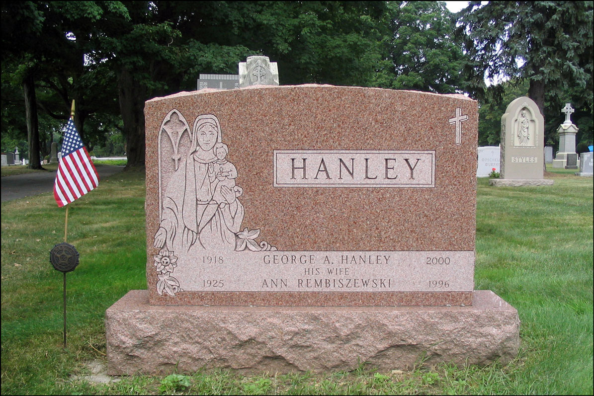 The Grave Marker of George A. Hanley and Anne Remibiszewski - Front