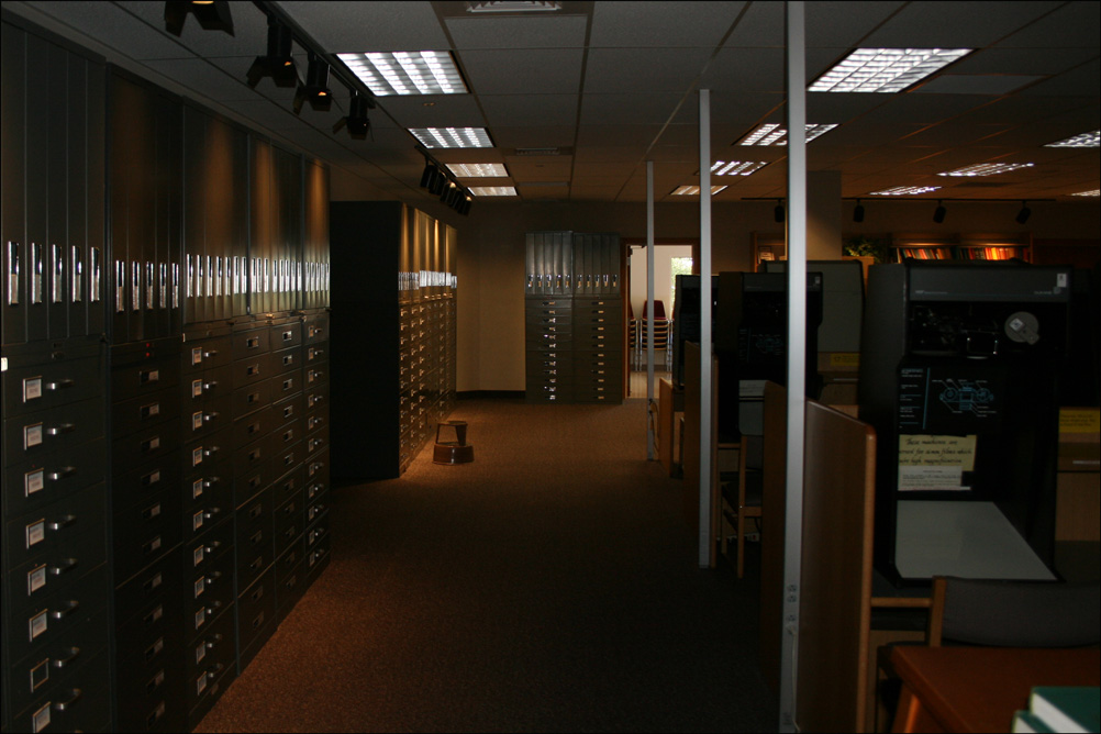 Microfilm Cabinets and Readers at the Oakland FHC