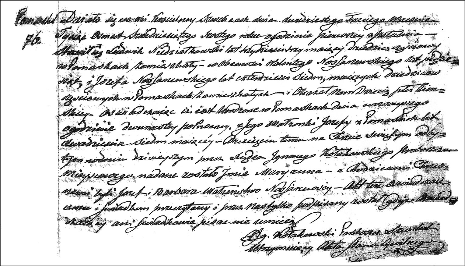 The Birth and Baptismal Record of Maryanna Niedzialkowska - 1866