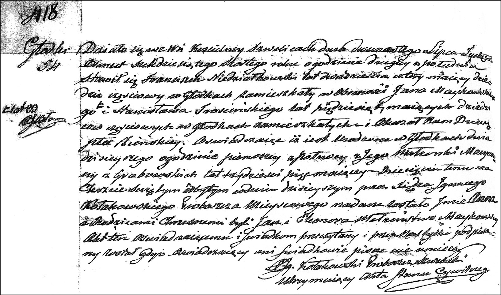 The Birth and Baptismal Record of Anna Niedzialkowska - 1866
