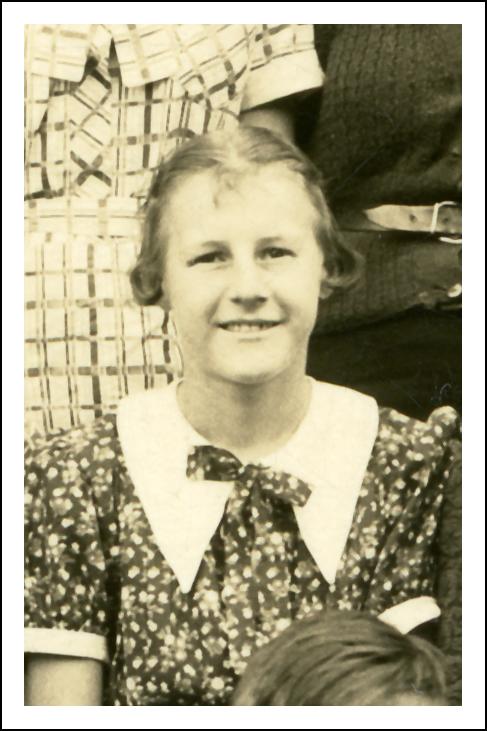 Jennie Niedzialkowski in Elementary School - 1936