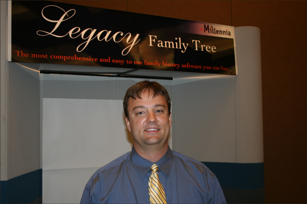 Geoff Rasmussen at the Southern California Genealogy Jamboree 2008