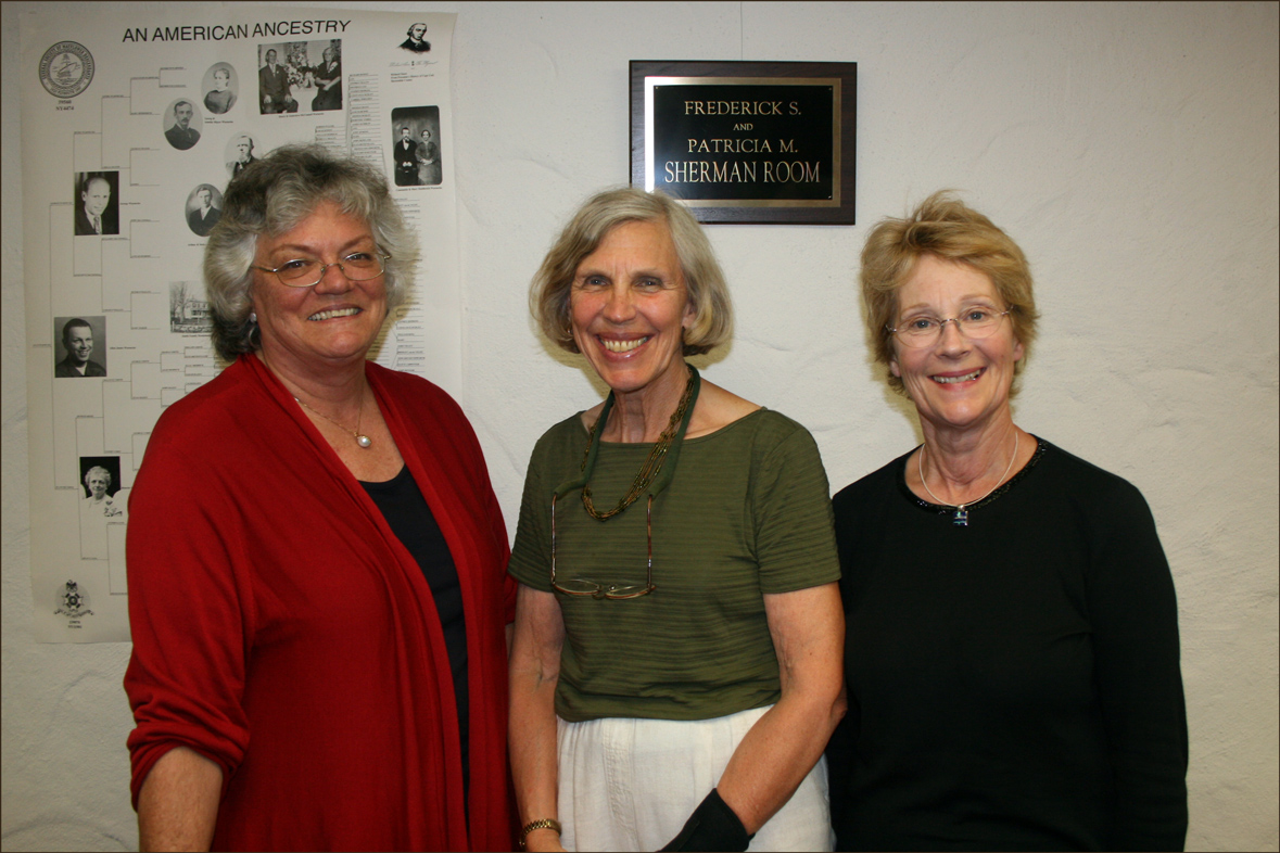 Lavinia Schwarz, Nancy Peterson, and Jane Hufft