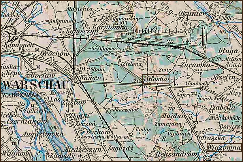 Austrian Military Map of Milosna Area