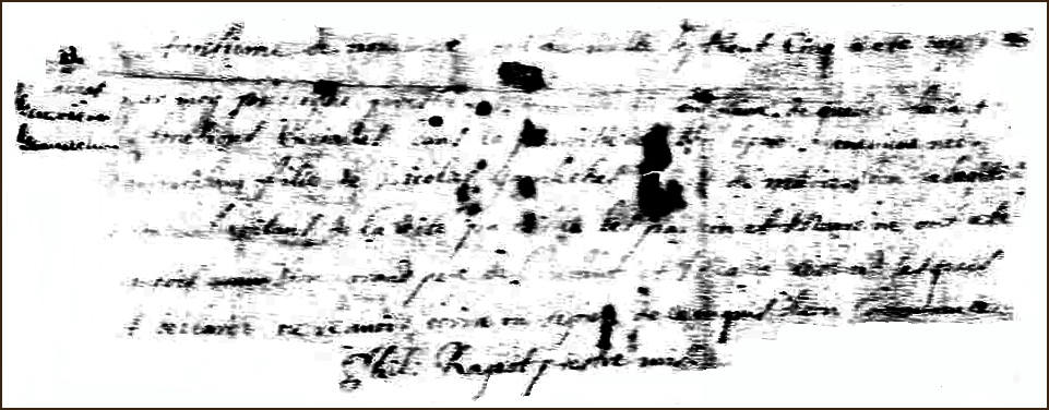 The Birth and Baptismal Record of Genevieve Gamache - 1705