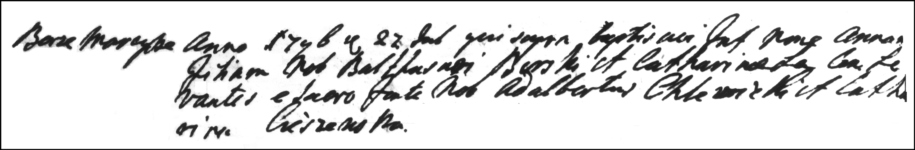 The Birth and Baptismal Record of Anna Burska - 1796
