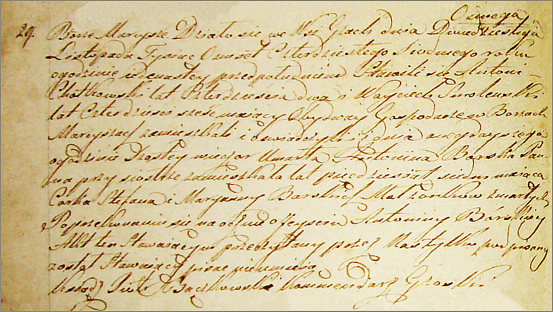 The Death and Burial Record of Antonina Borska - 1847
