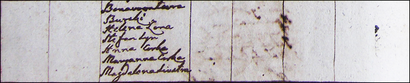Bonawentura Burski in the 1784 Gzy Parish Census