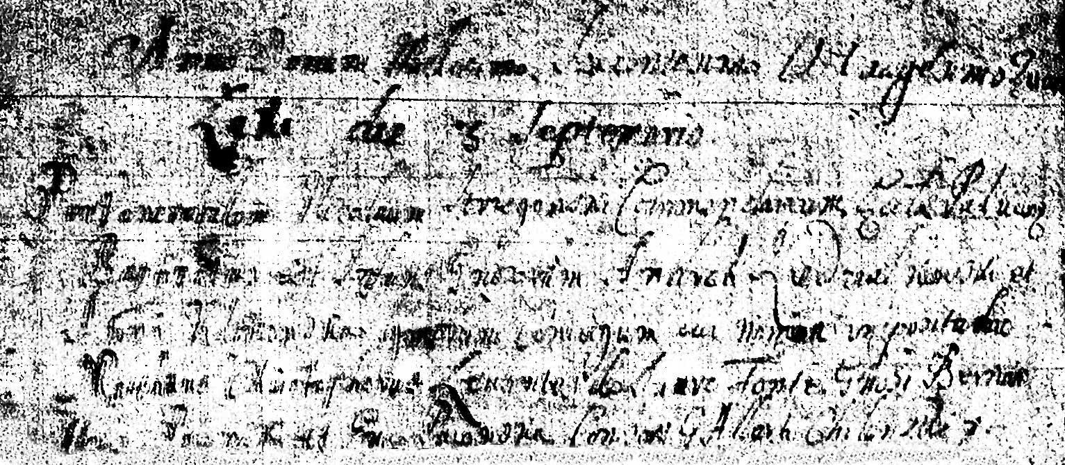 The Birth and Baptismal Record of Mateusz Krzysztof Niedzialkowski - 1683