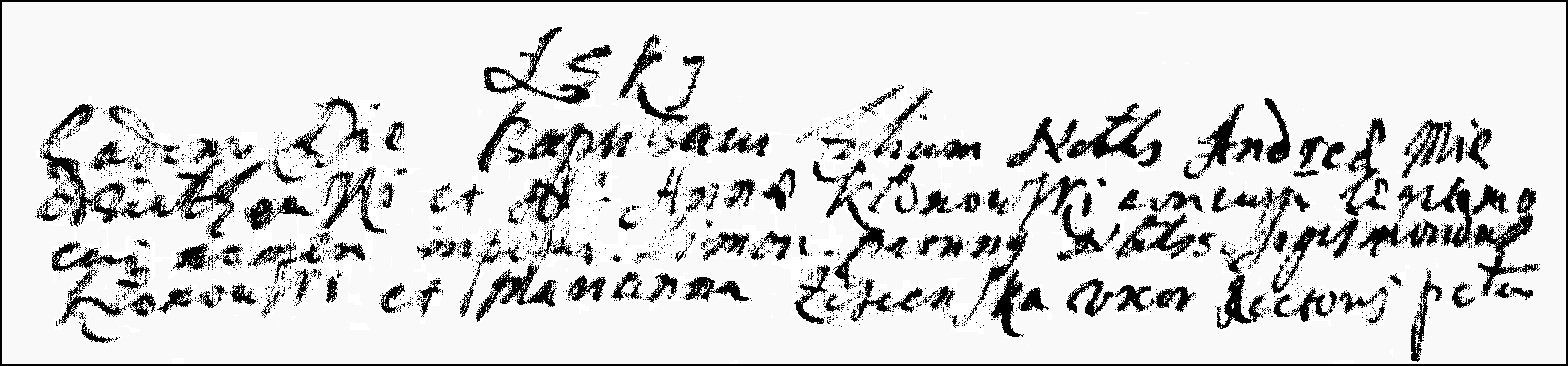 The Birth and Baptismal Record of Szymon Niedzialkowski - 1676