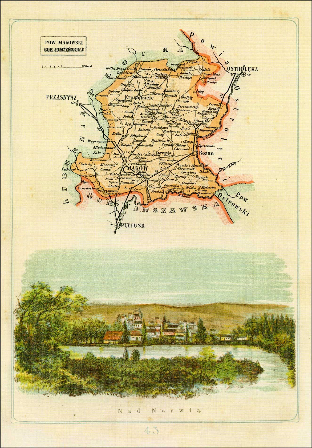 Map of Powiat Ciechanowski