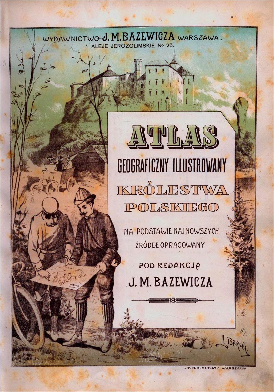 Cover of the Atlas geograficzny illustrowany Krolestwa Polskiego