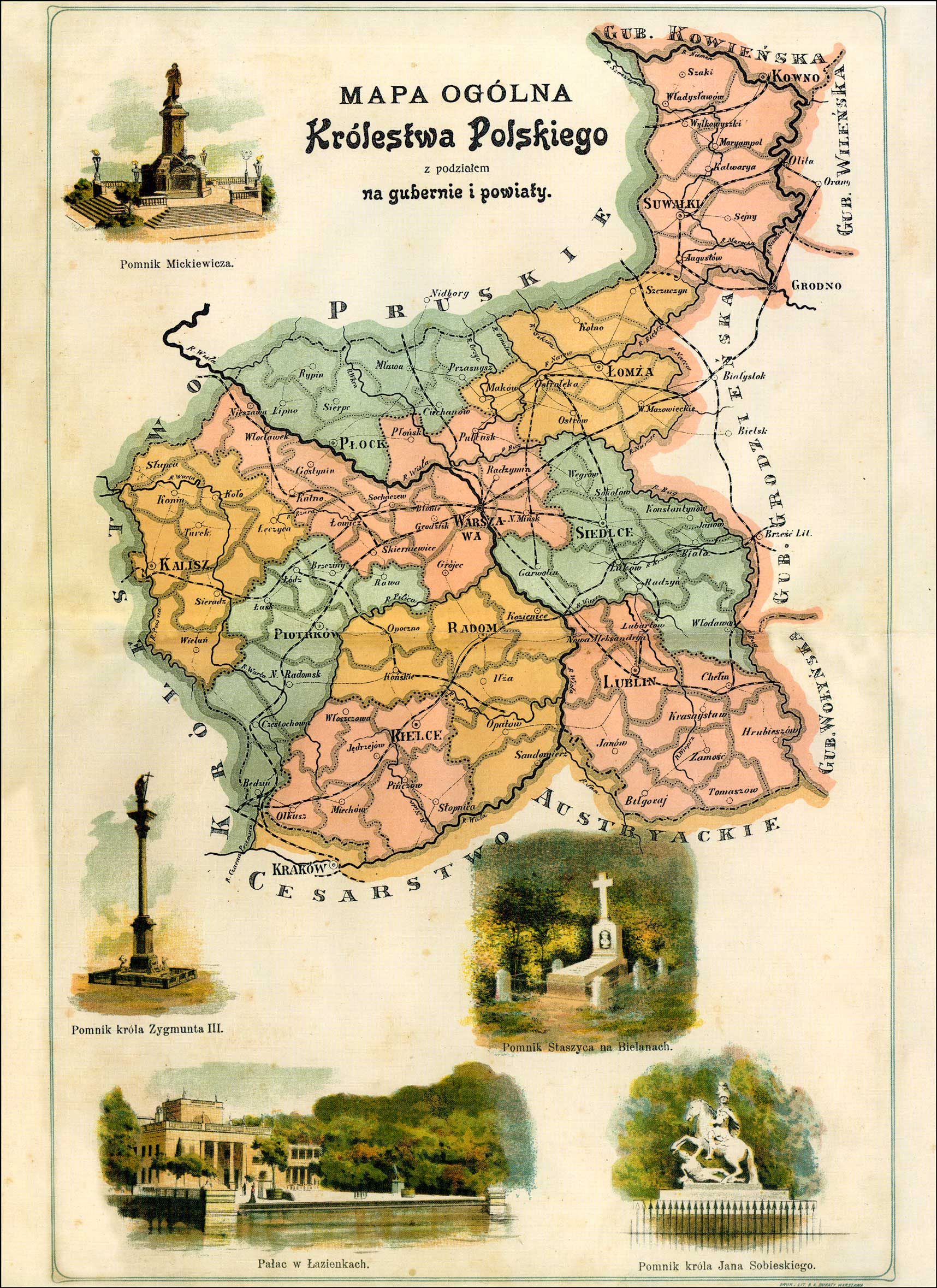 General Map of the Kingdom of Poland