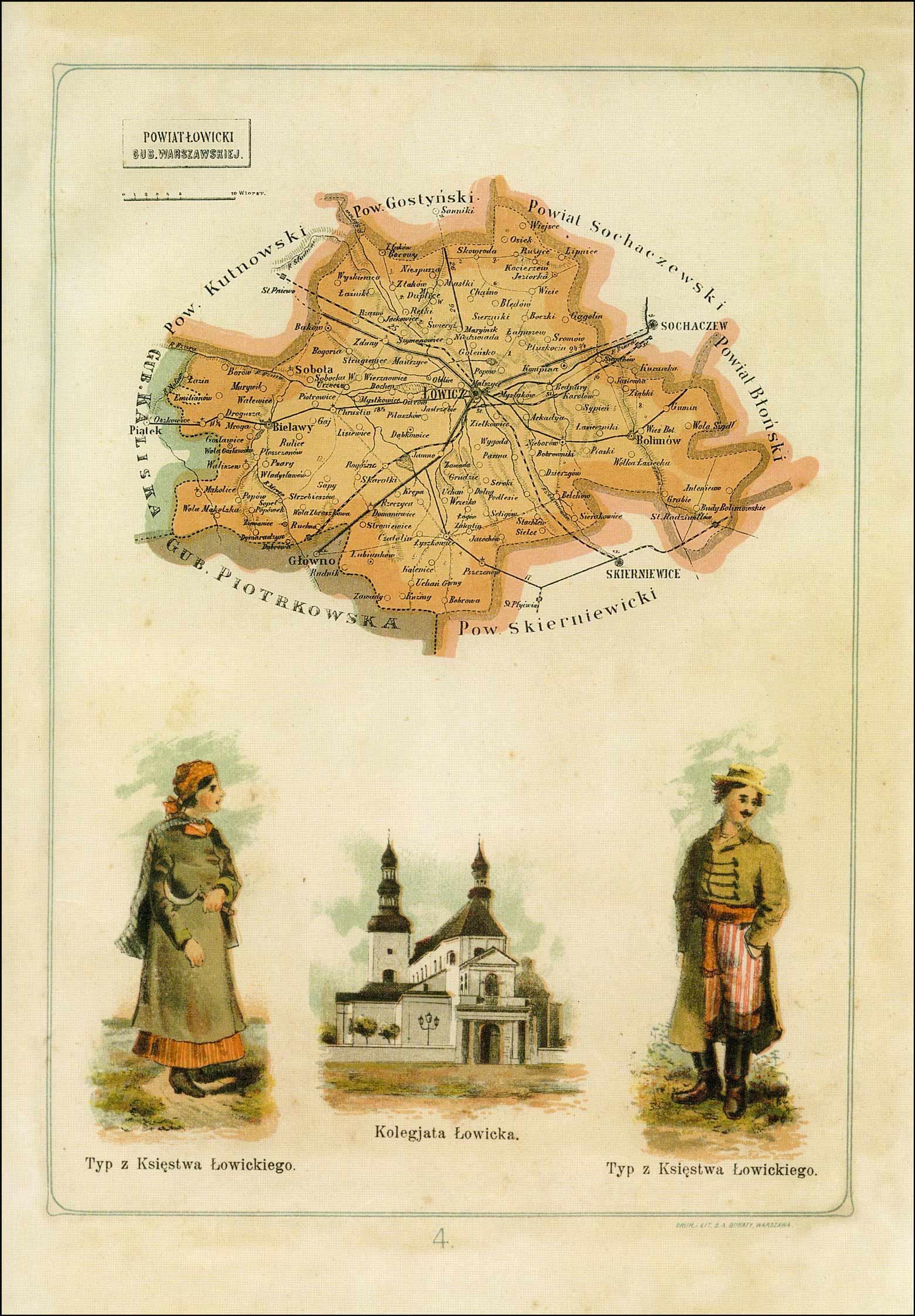 Map of Powiat Lowicki