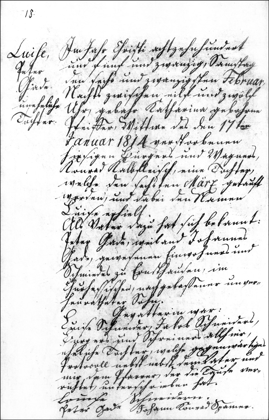 The Birth and Baptismal Record of Louise Gade - 1825