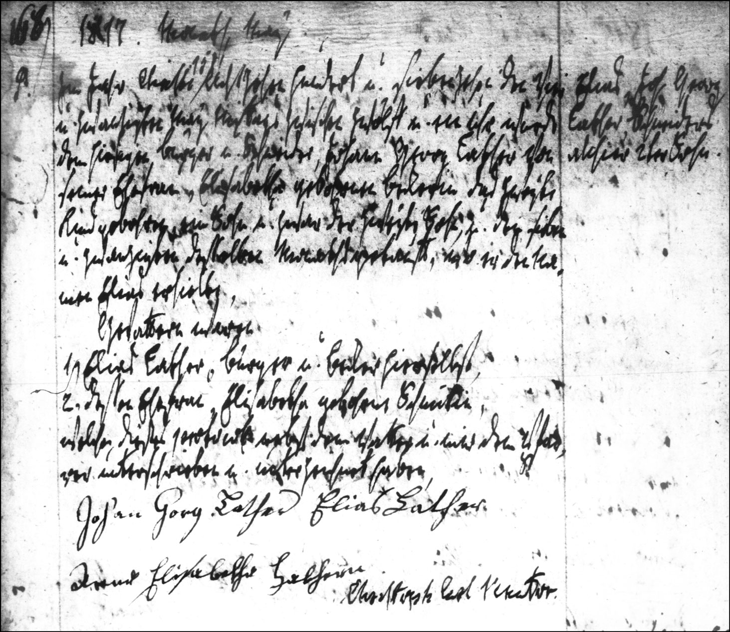 The Birth and Baptismal Record of Elias Lather - 1817