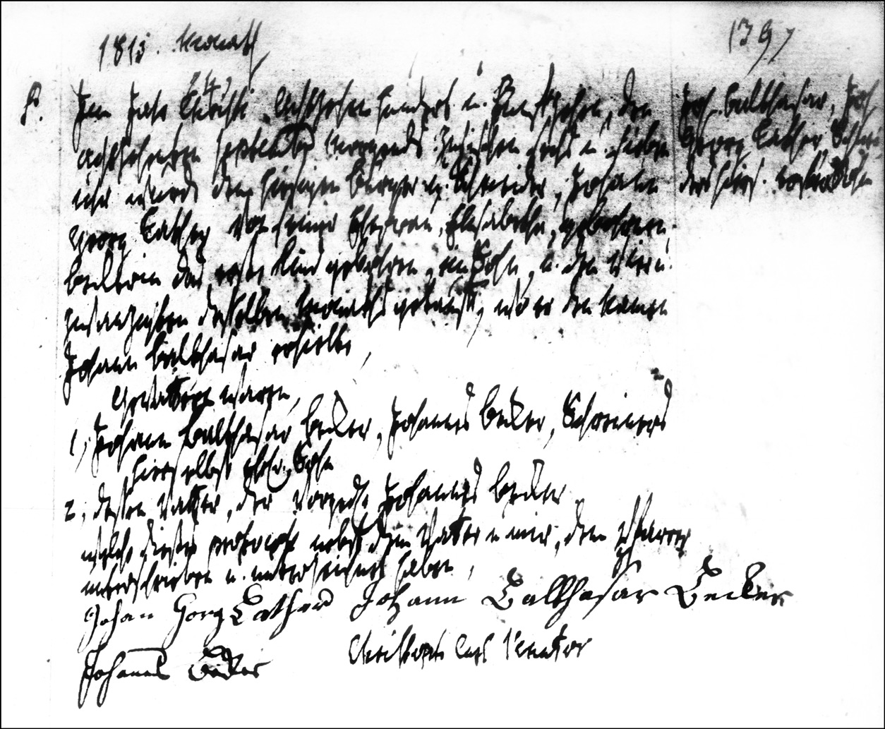 The Birth and Baptismal Record of Johann Balthasar Lather - 1815