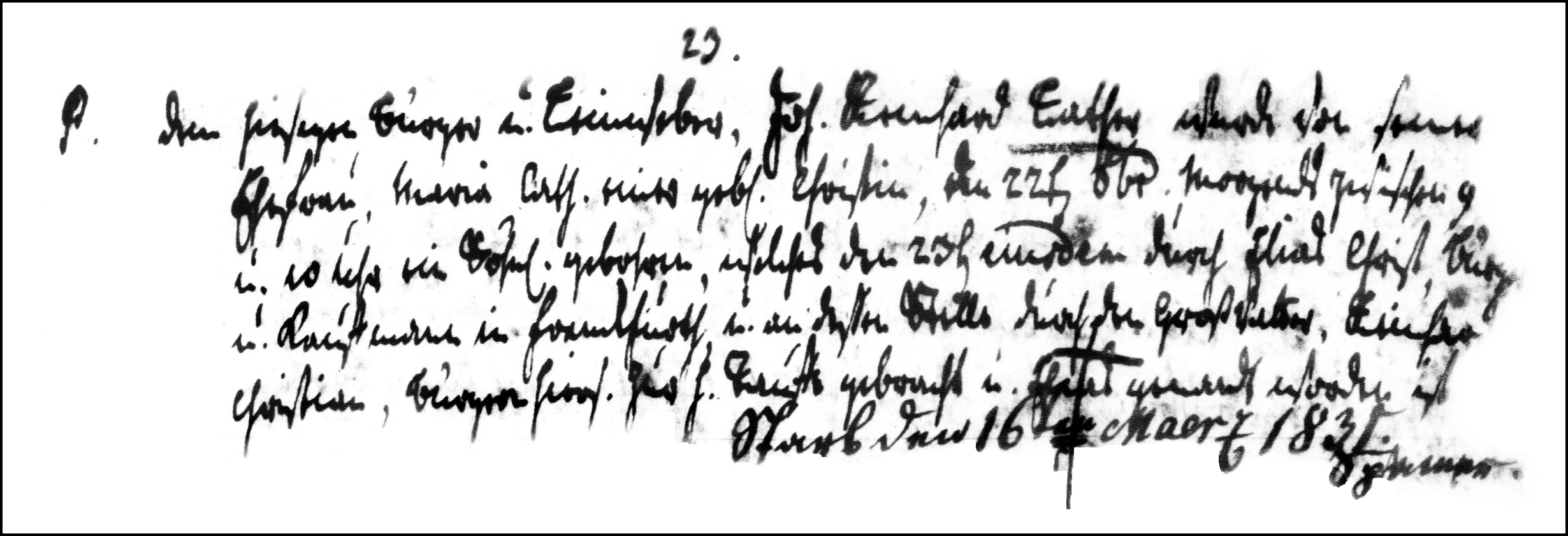 The Birth and Baptismal Record of Elias Lather - 1781
