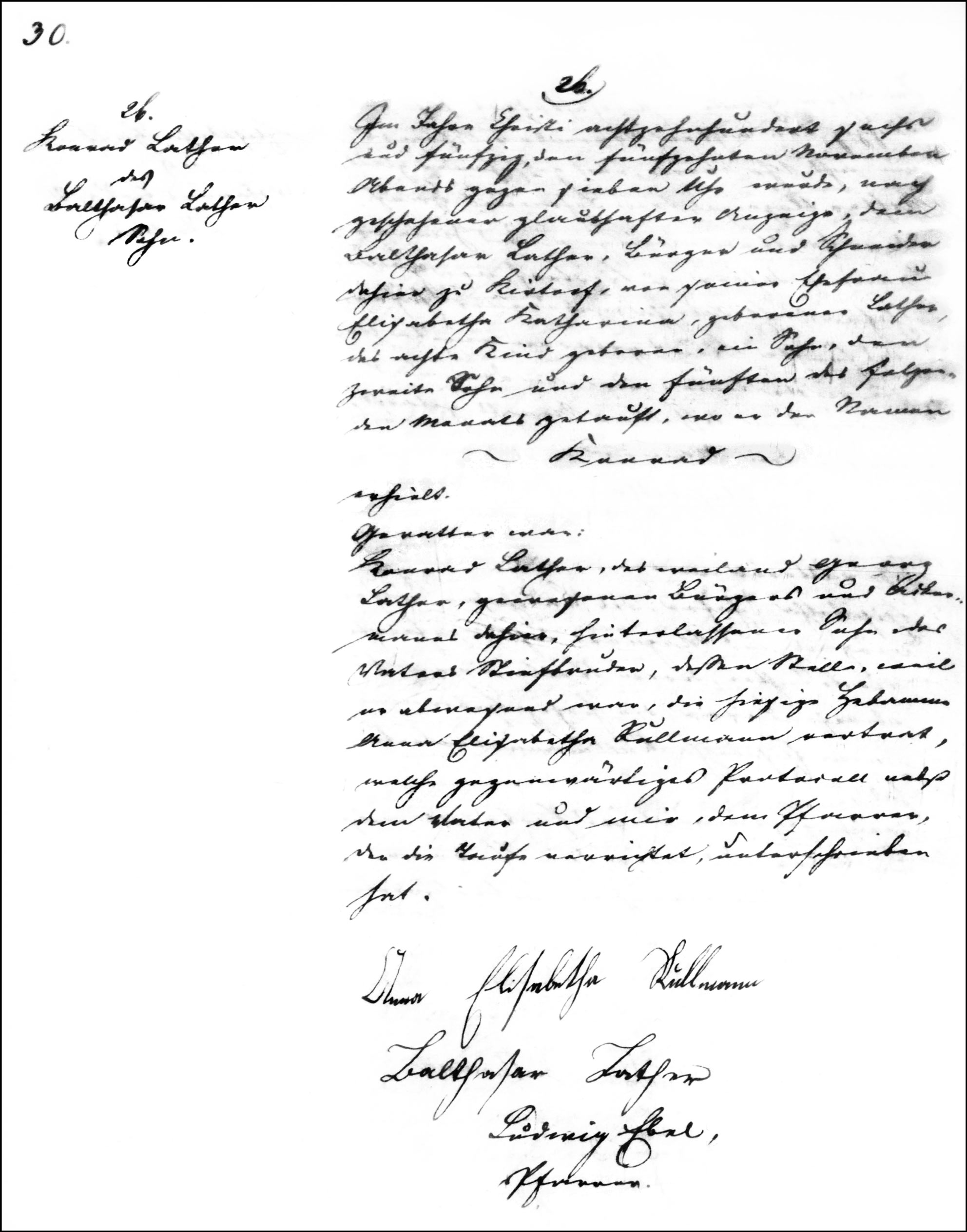 The Birth and Baptismal Record of Konrad Lather - 1856