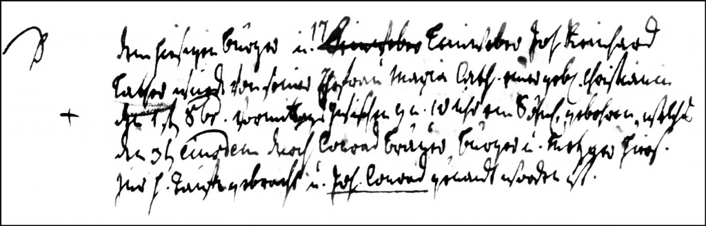 The Birth and Baptismal Record of Johann Conrad Lather - 1793