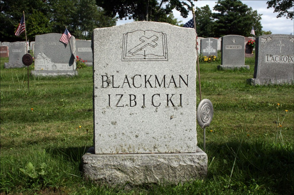 The Gravestone of Bernard J. Izbicki and Albert F. Blackman - Obverse