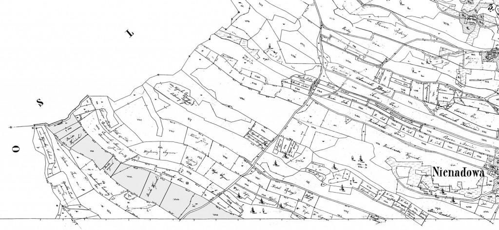 Nienadowa, Galicia - 1854 (Map 10)