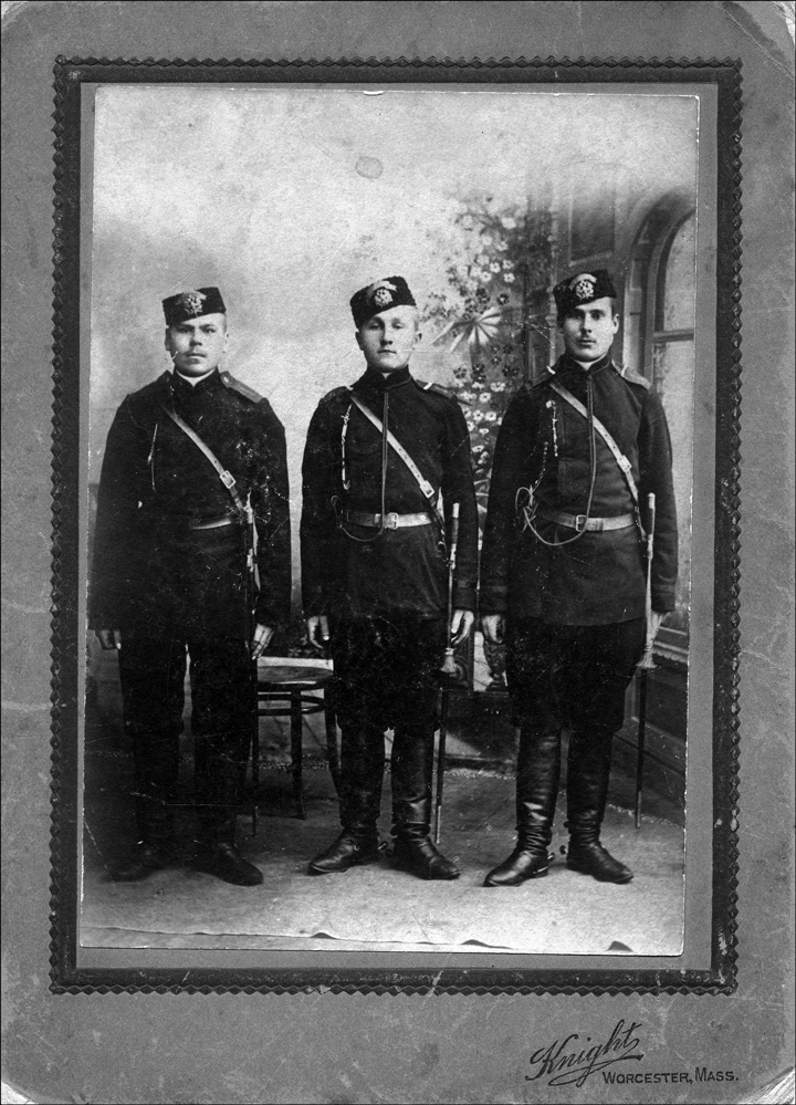 Three Men in Uniform
