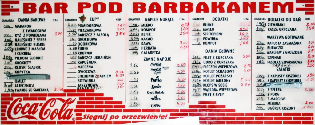 Milk Bar Menu