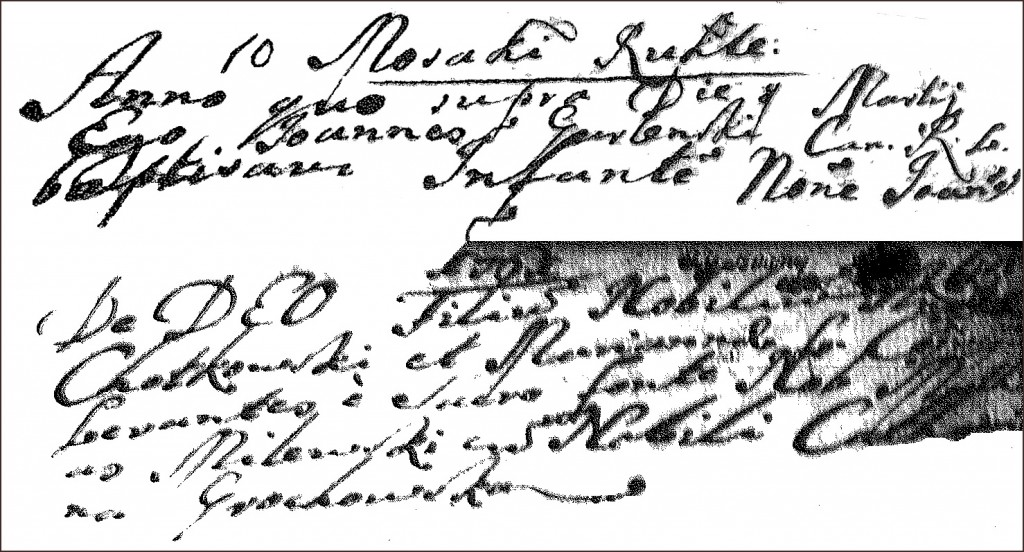 The Birth and Baptismal Record of Jan Chodkowski - 1761