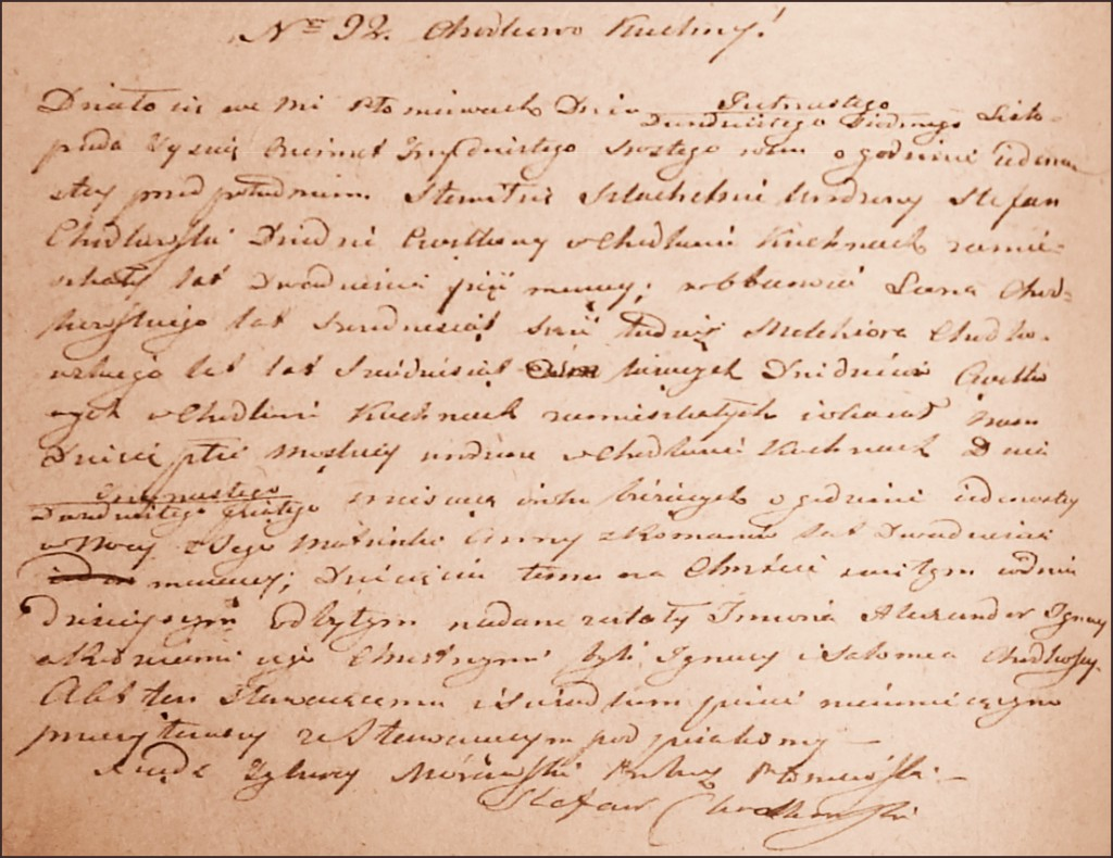 The Birth and Baptismal Record of Aleksander Ignacy Chodkowski - 1836