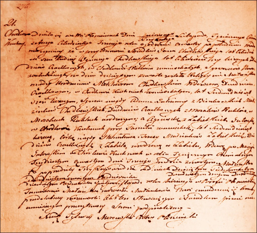 The Marriage Record of Melchior Chodkowski and Agnieszka née Gutowska Zabielska - 1843