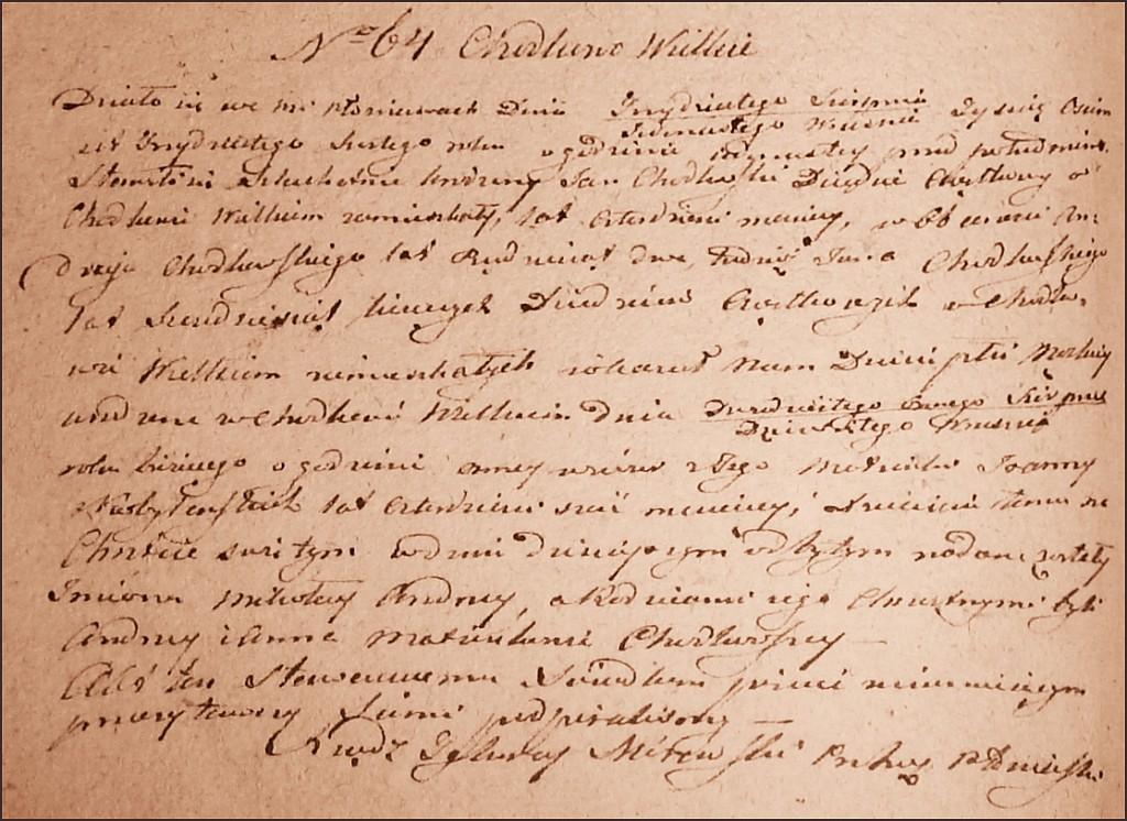 The Birth and Baptismal Record of Mikołaj Andrzej Chodkowski - 1836