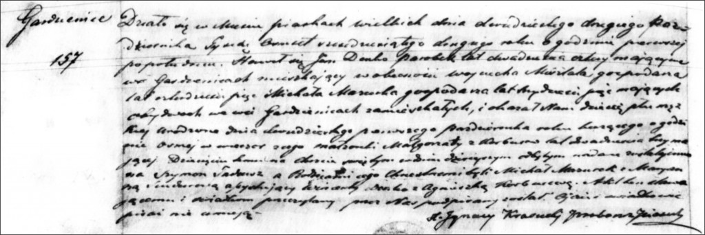 The Birth and Baptismal Record of Szymon Tadeusz Dańko - 1862
