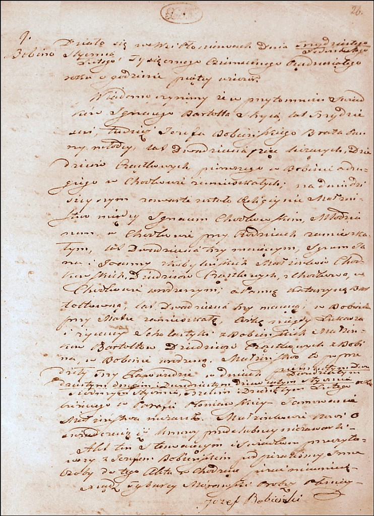 The Marriage Record of Ignacy Chodkowski and Katarzyna Bartold - 1850