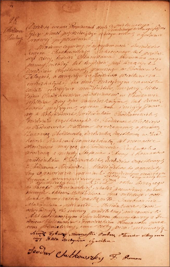 The Marriage Record of Mikołaj Andrzej Chodkowski and Zuzanna Zofia Chodkowska - 1856