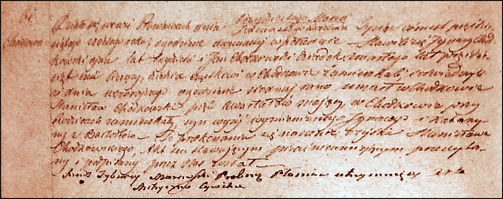 The Death and Burial Record of Stanisław Chodkowski - 1856