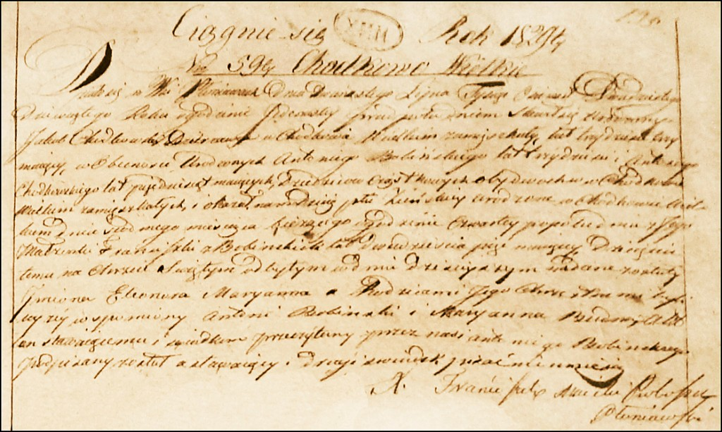 The Birth and Baptismal Record of Eleonora Marianna Chodkowska - 1829