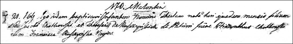 The Birth and Baptismal Record of Tekla Chodkowska - 1817
